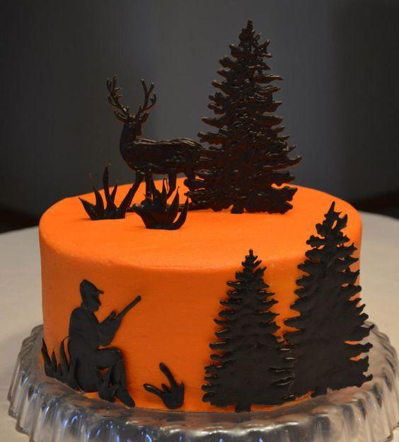 картинка торт охотнику представителей
