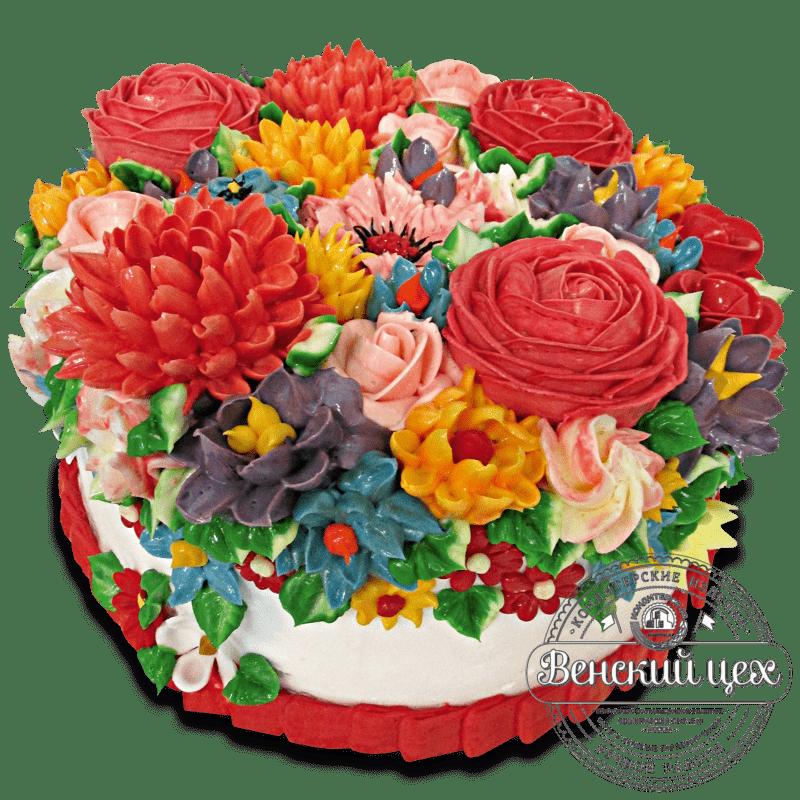 """Торт на день рождения """"Яркий мотив"""" №955"""