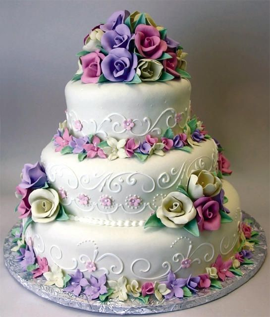Торт  на свадьбу  № 962