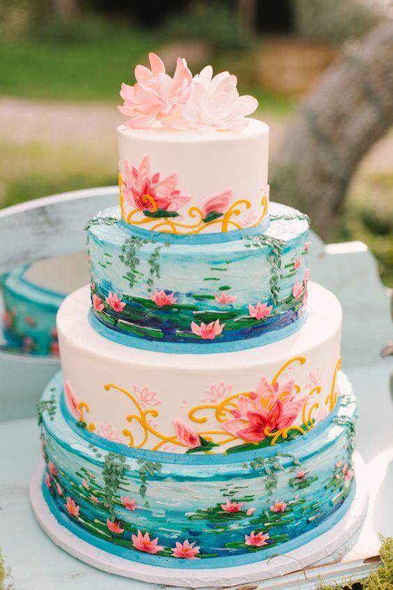Торт  на свадьбу  № 987