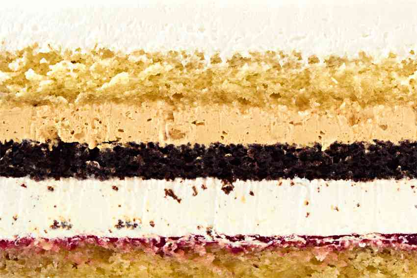 Для любимых (сочетание классического и шоколадного бисквита со взбитыми сливками, варенной сгущенкой и подваркой)