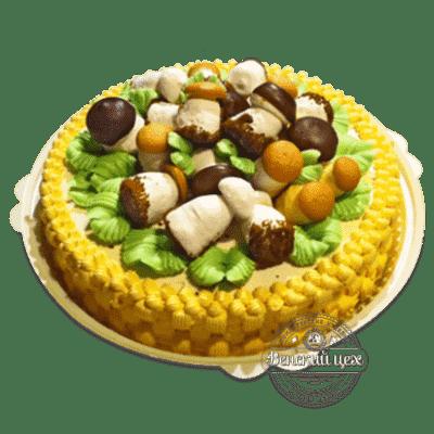 """Торт праздничный """"Грибное лукошко"""" №1379"""