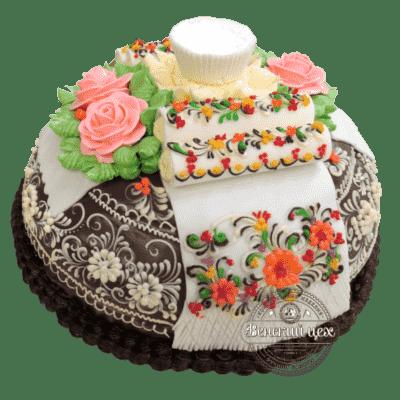 """Торт на свадьбу """"Хлеб-Соль"""" №1371"""