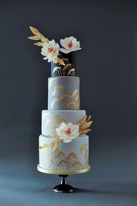 Торт свадебный №908