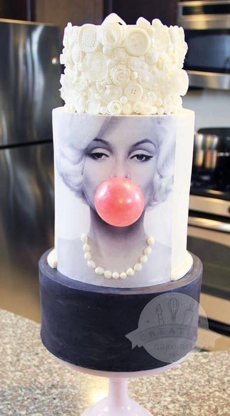 """Торт на день рождения """"Монро"""" №914"""