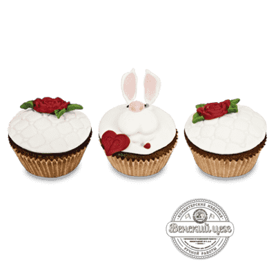 "Капкейки набор №4 ""Белый кролик"""