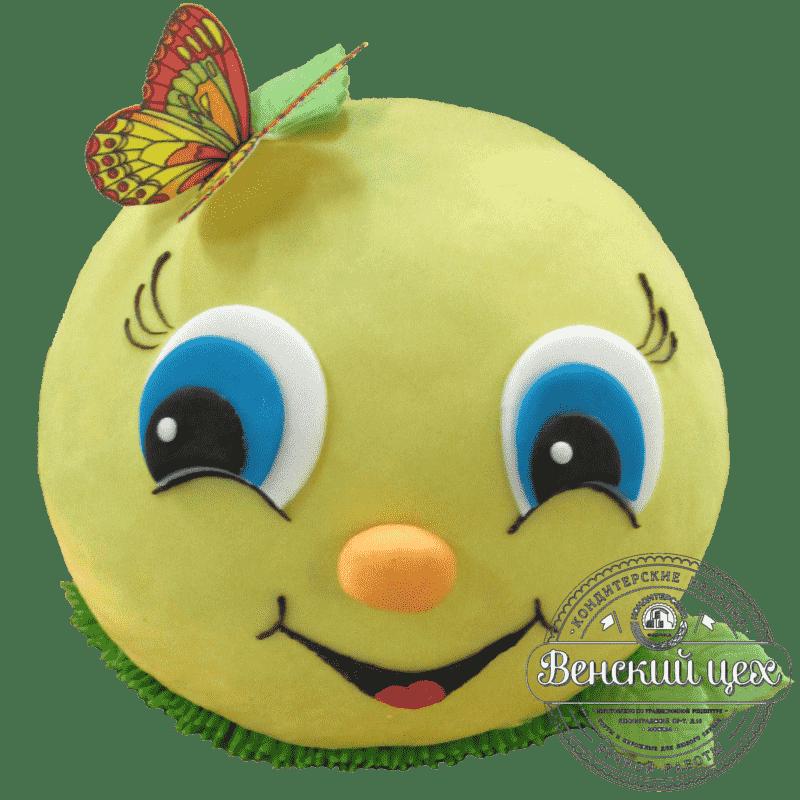 """Торт детский на 1 годик """"Колобок"""" №1377"""