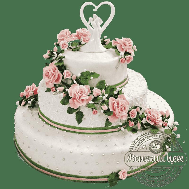 """Торт на свадьбу """"Романтика"""" №1386"""