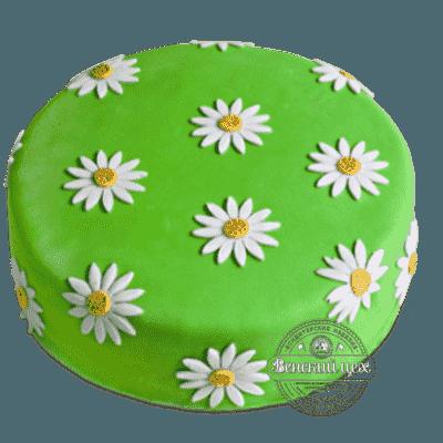 Торт на день рождения «РОМАШКА» №1375