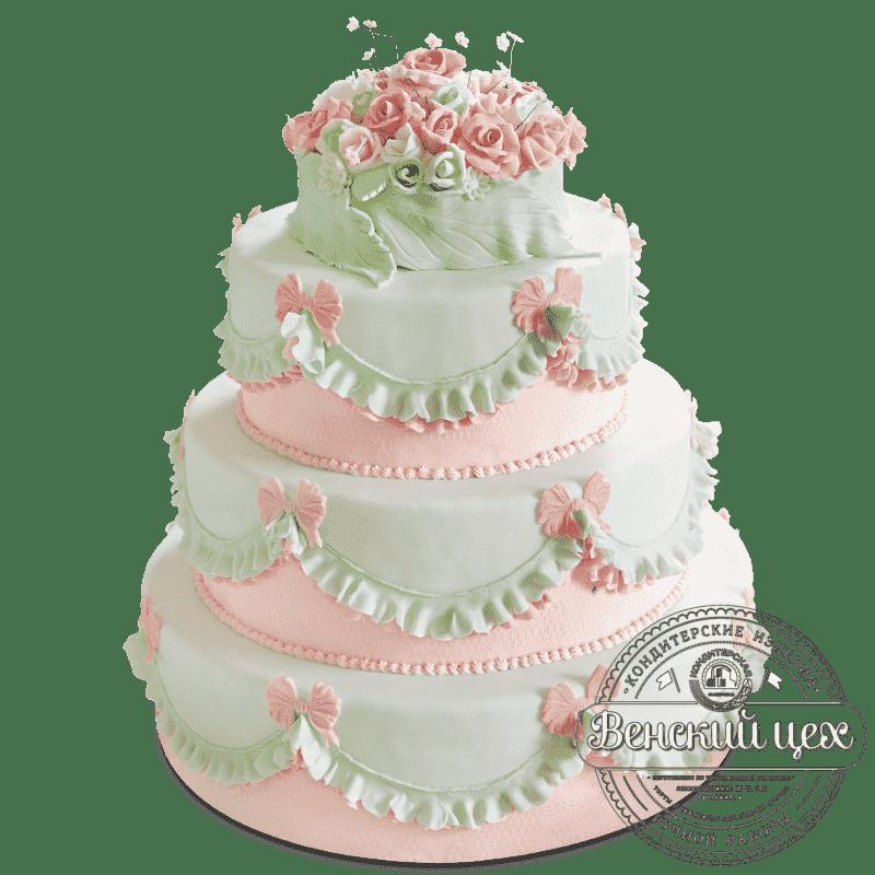 "Торт на свадьбу ""Розы"" №1387"