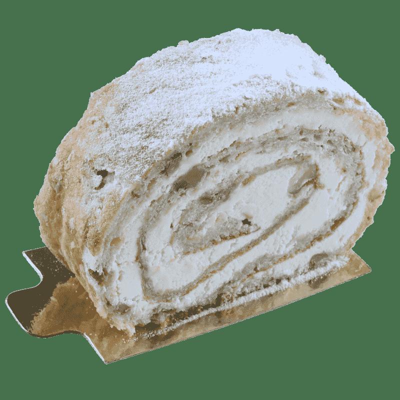 Рулет с заварным кремом и грецким орехом
