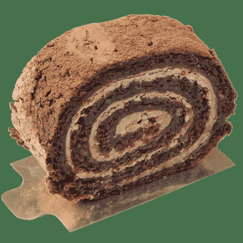 Шоколадный рулет с клюквой и орехами