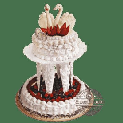 """Торт со свежими ягодами """"Свадебный"""" №1381"""