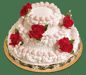 """Торт на свадьбу """"Алые розы"""" №1383"""