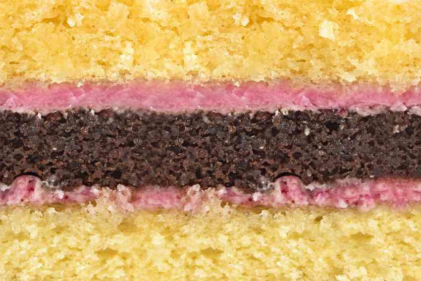 Зебра (сочетание шоколадного и классического бисквита со сливочно-ягодным кремом)