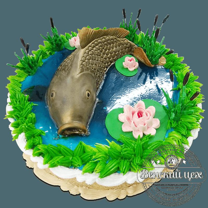 """Торт на день рождения """"Большая рыба"""" №1963"""
