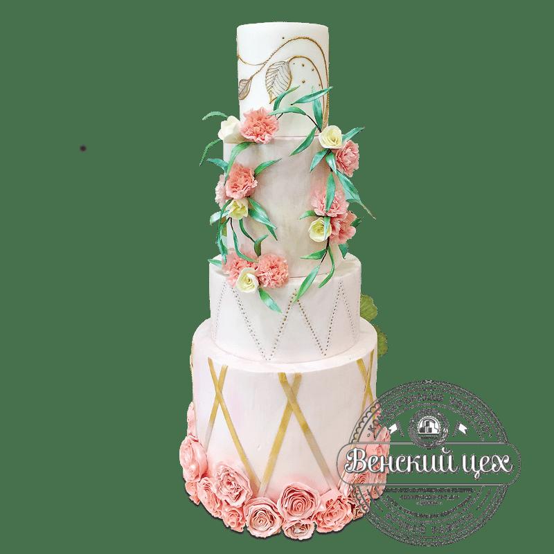 Торт свадебный №1965