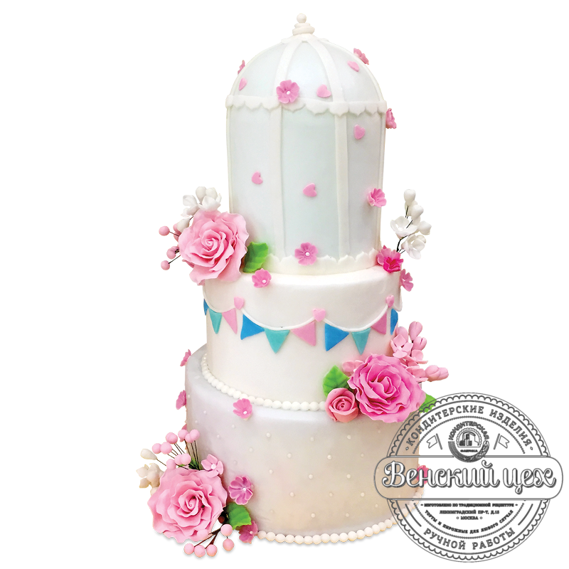 Торт свадебный №1966