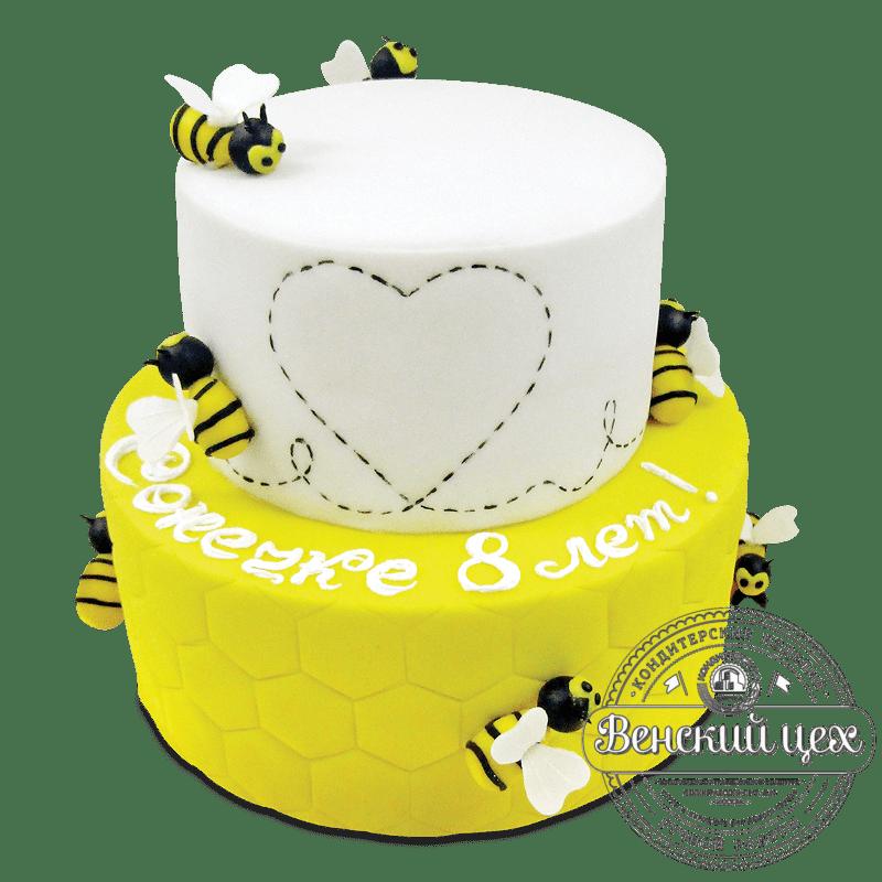 """Торт на день рождения """"Пчелиные соты"""" №1969"""