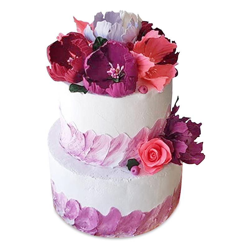 """Торт свадебный """"Утренние цветы"""" №1988"""