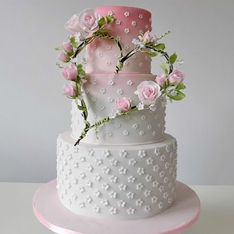 """Торт свадебный """"Весна и нежность"""" №1993"""