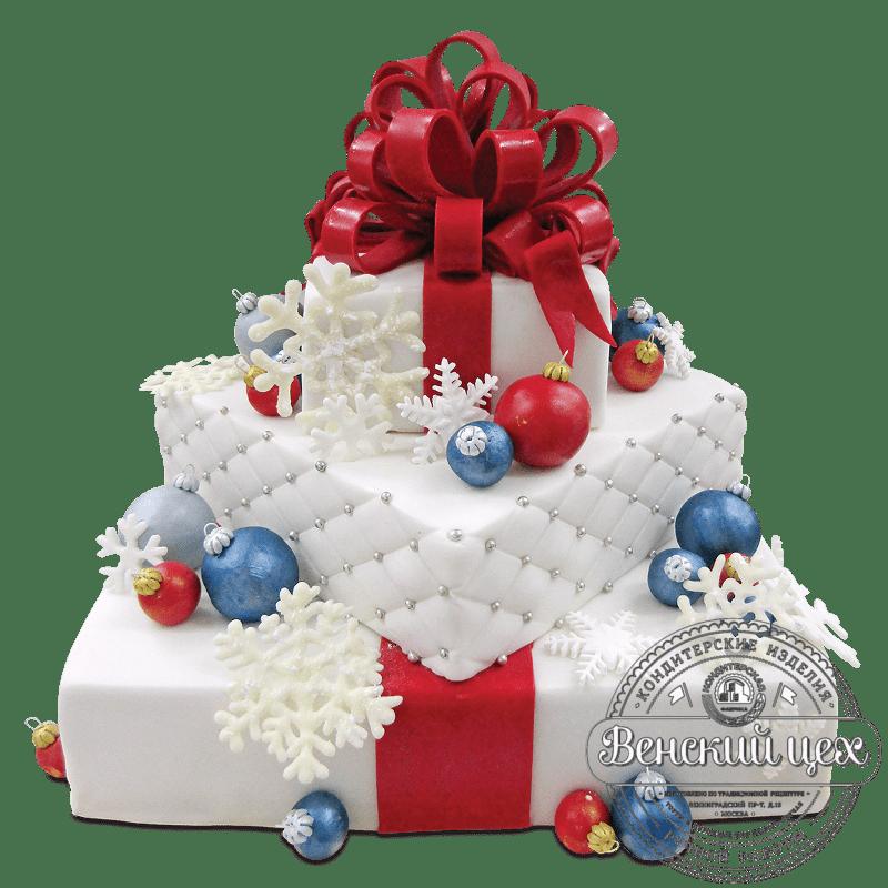 Торт  на Новый год  № 1066