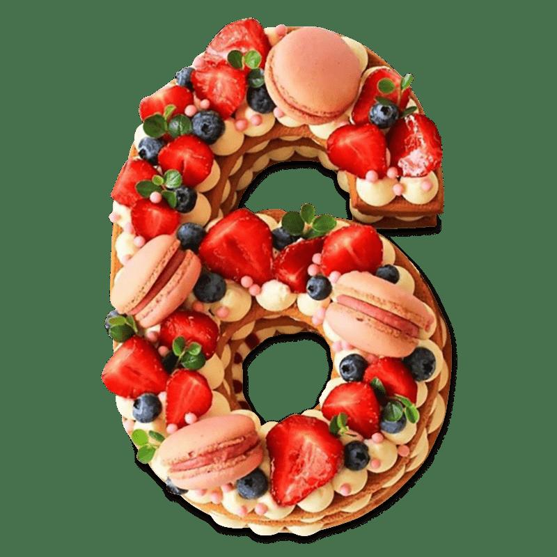 """Торт детский """"Фруктовая цифра"""" №2014"""