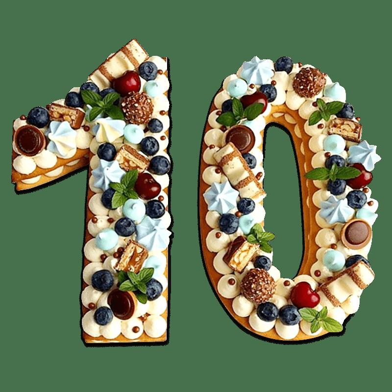 """Торт детский """"Фруктовые цифры"""" №2025"""