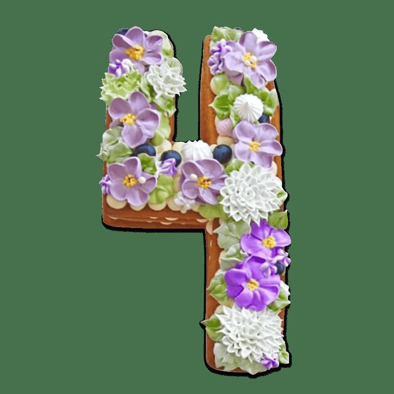 """Торт  детский """"Сладкая цифра"""" №2016"""