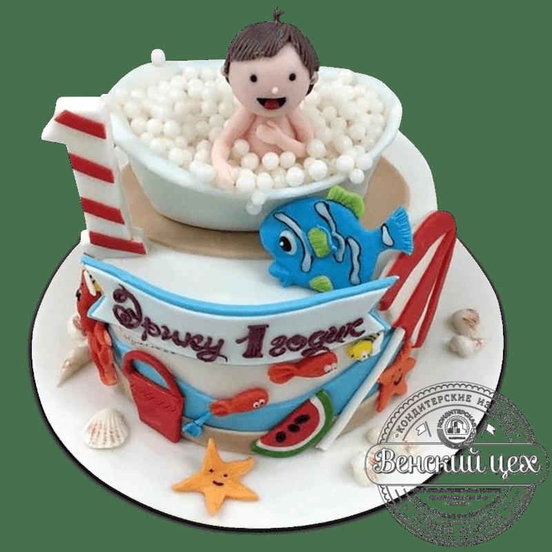 """Торт детский """"Малыш в ванне"""" №2044"""