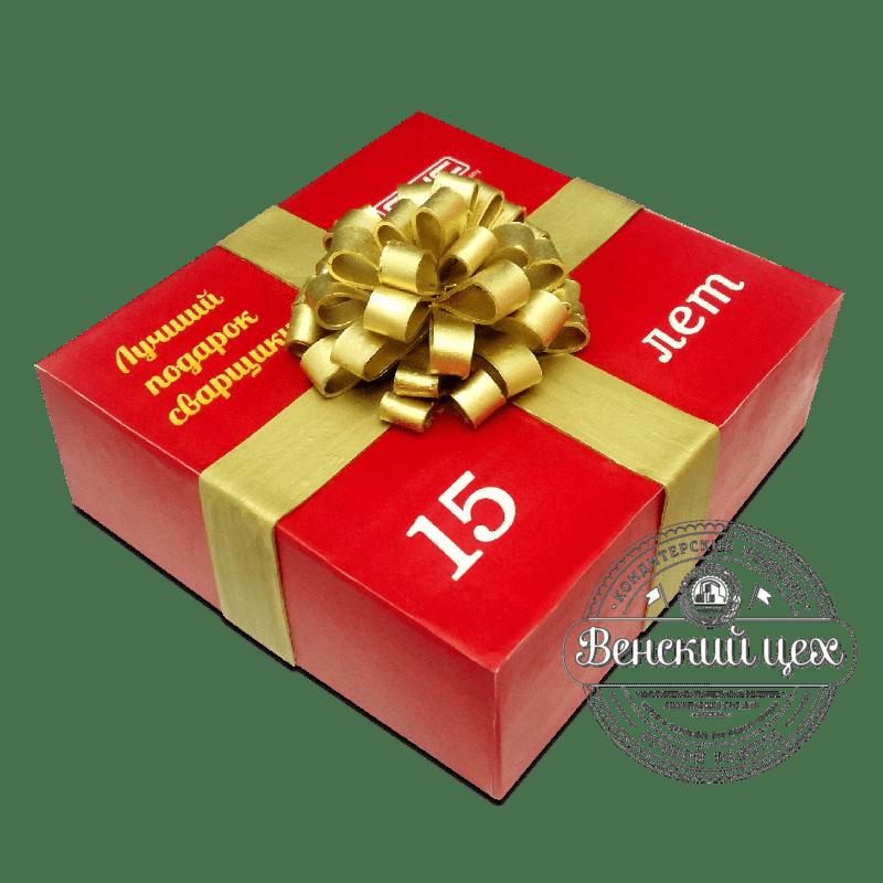 Торт «Подарок с бантом» №2097