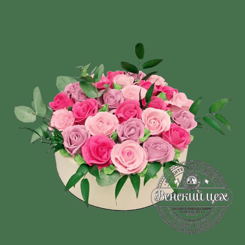 """Торт на день рождения """"Букет роз"""" №2100"""