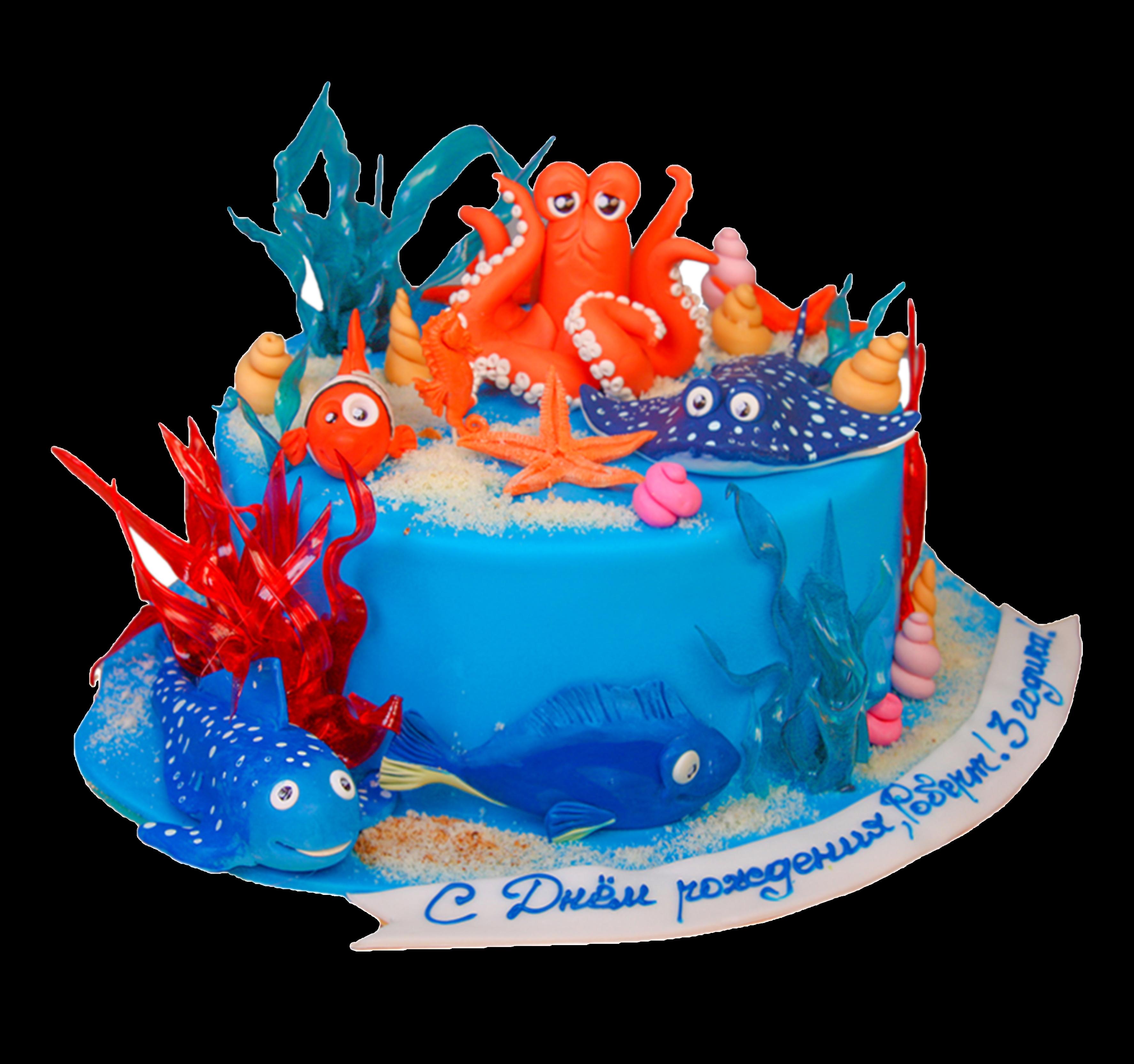 """Торт на праздник """"В глубинах моря"""" №3010"""