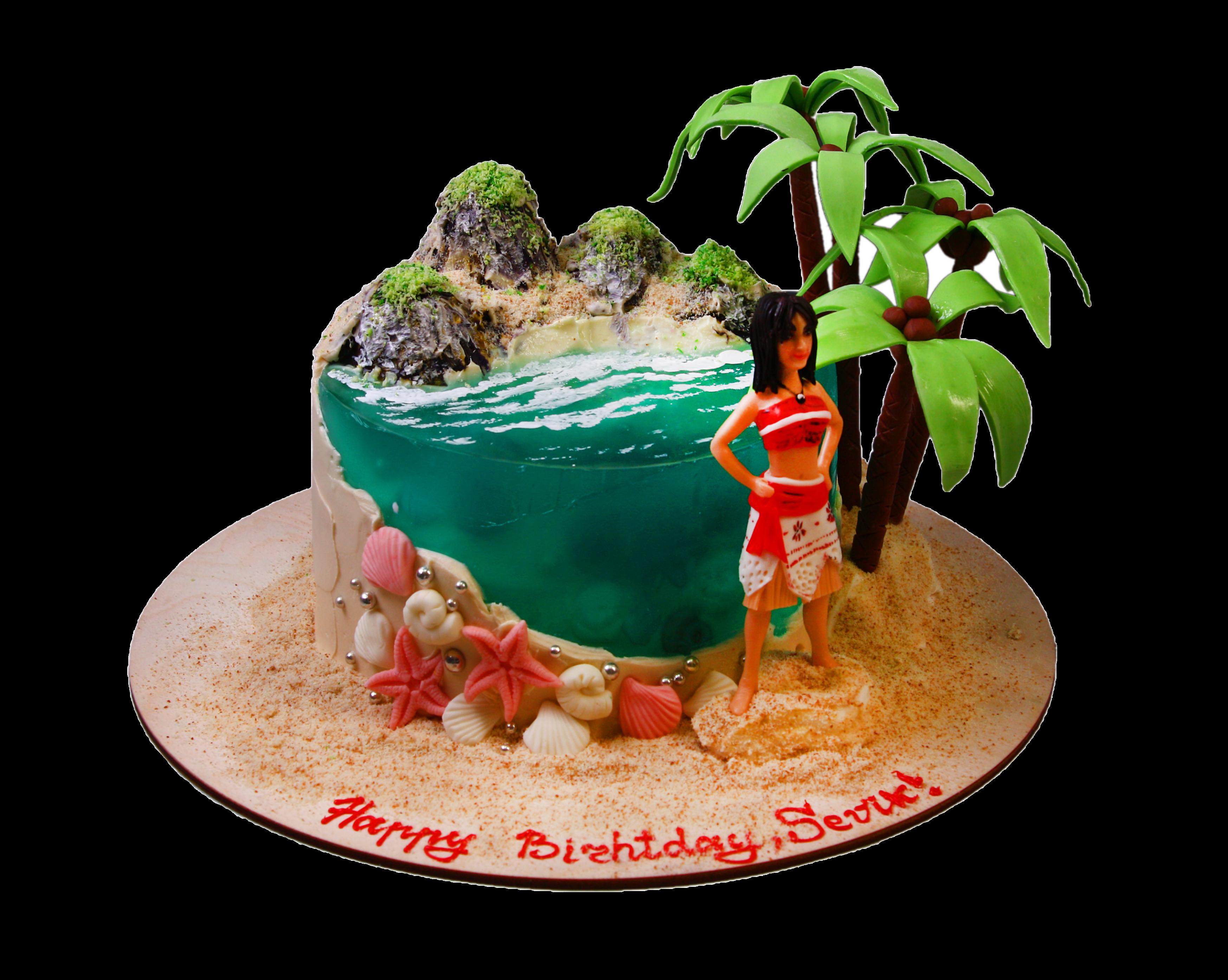 """Торт на день рождения """"Лазурный берег"""" №3005"""