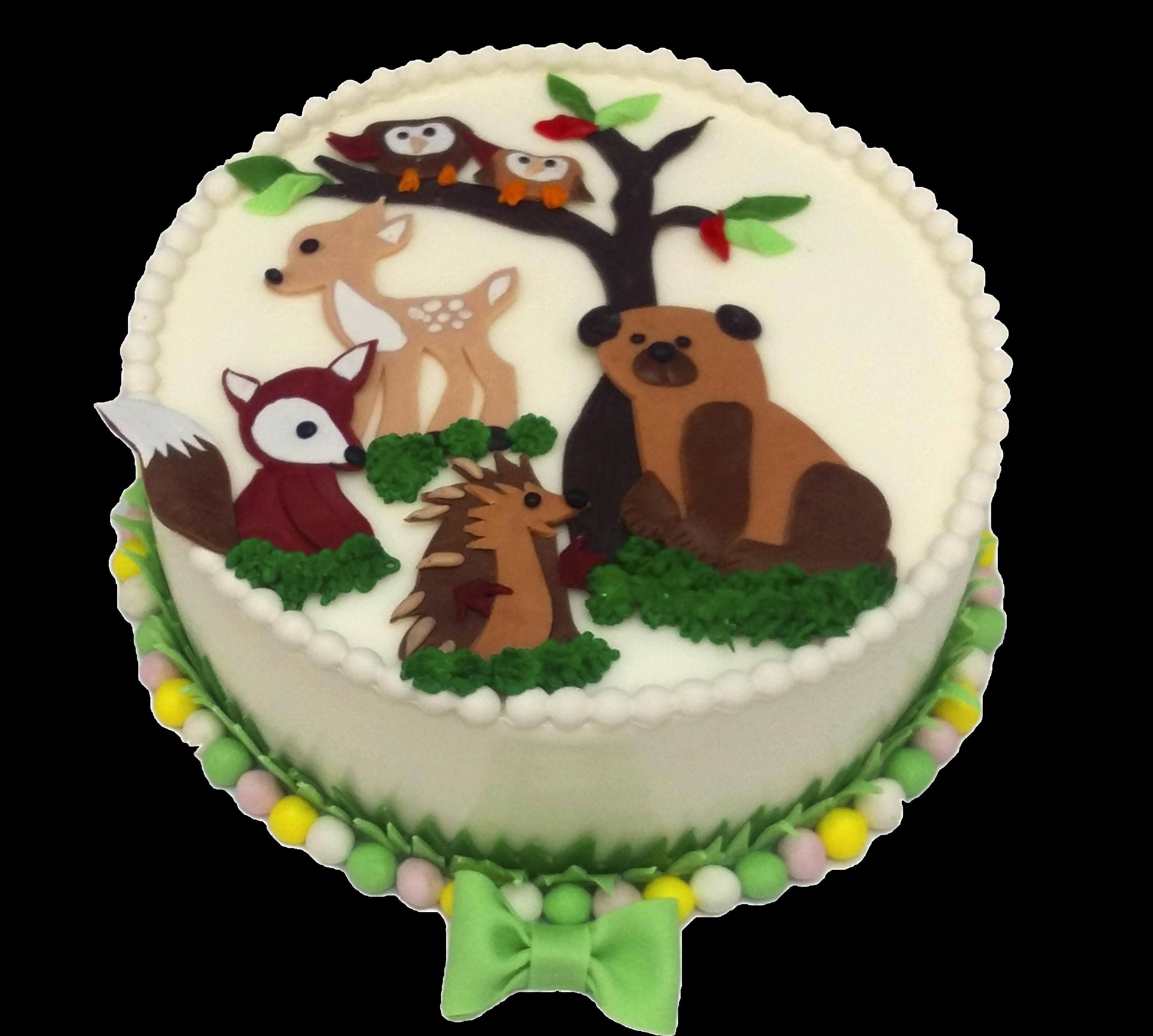 """Торт детский """"Лесные друзья"""" №1547"""
