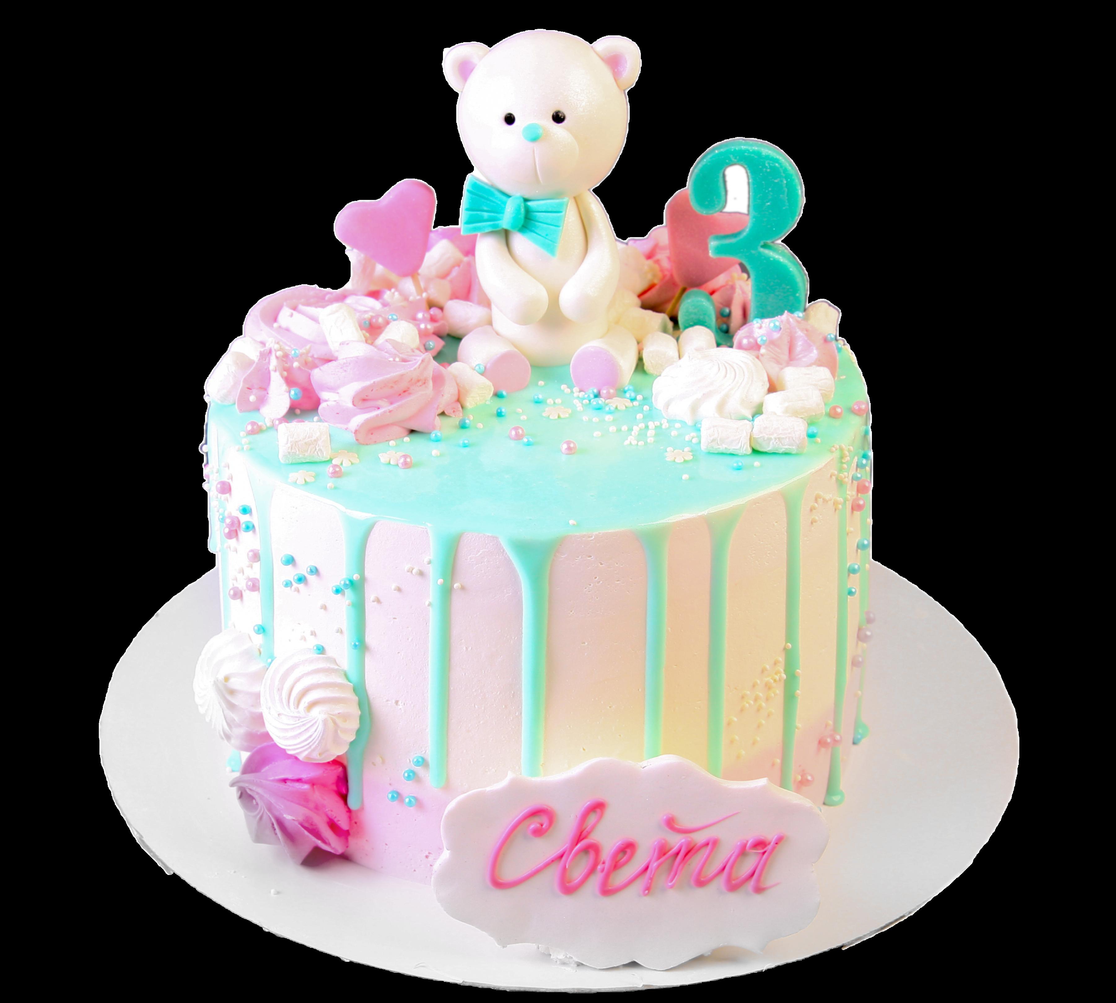 """Торт детский """"Медвежонок"""" №3020"""