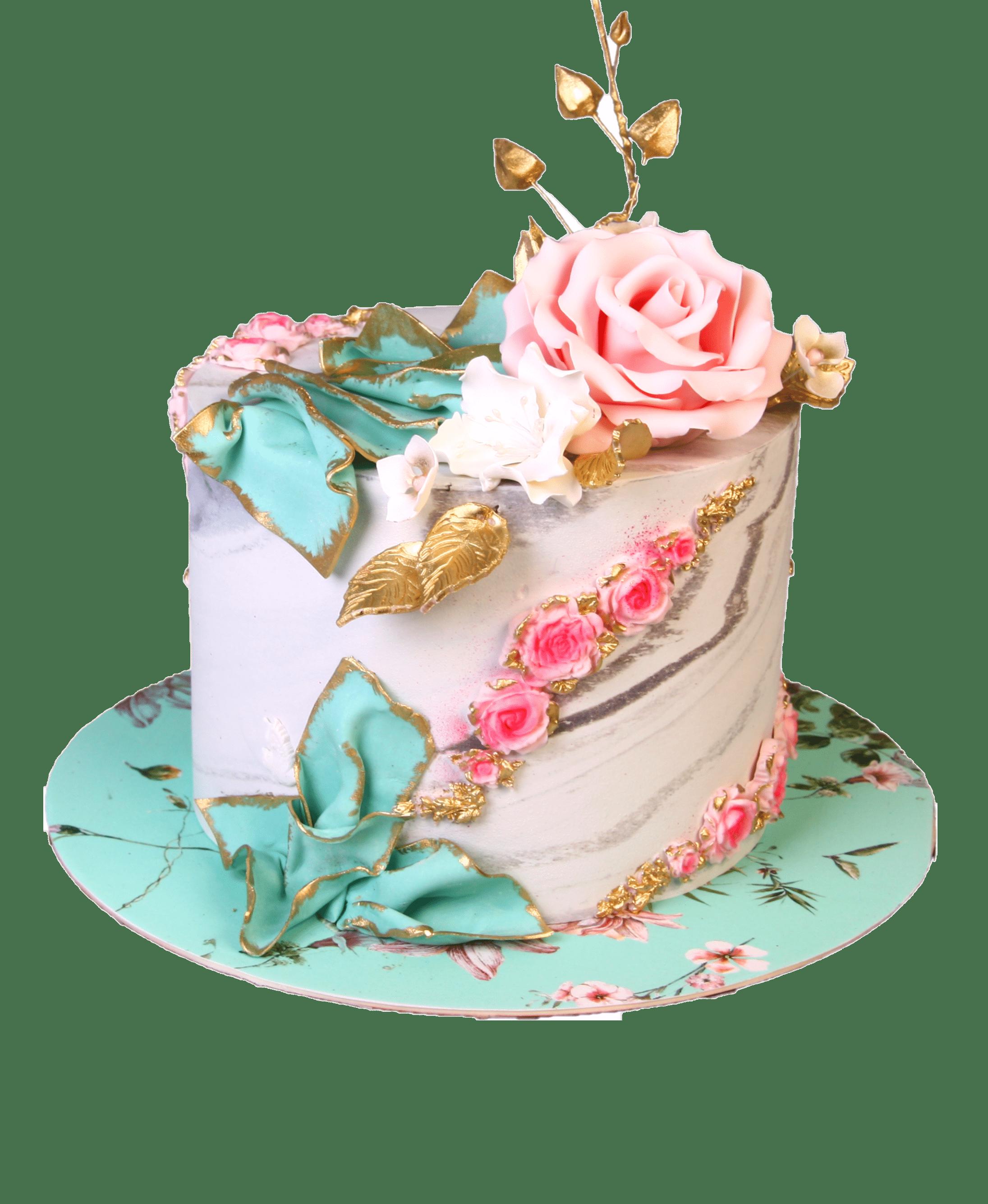 """Торт на праздник """"Мятная роза"""" №3013"""