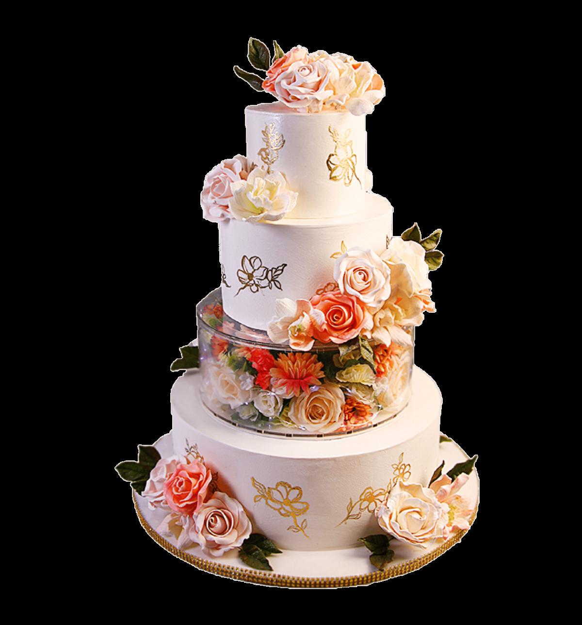 """Торт свадебный """"Очарование"""" №3022"""