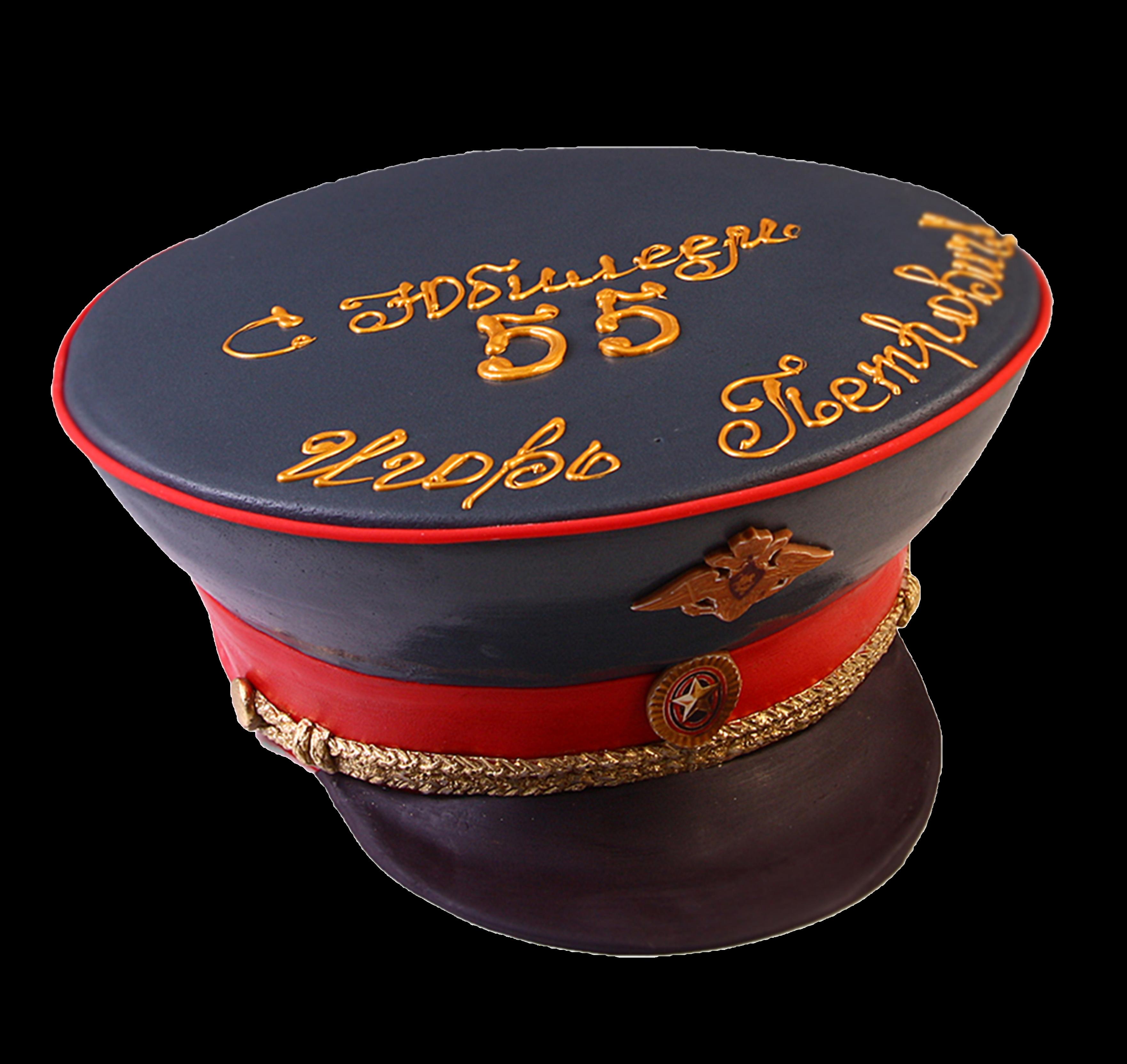 """Торт на День рождения """"Фуражка"""" №3009"""